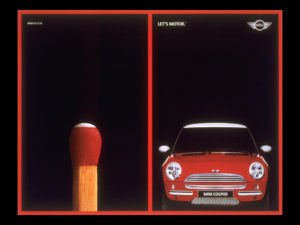 Mini Cooper Print ads that don't look like car ads. Match and mini cooper